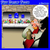 Cartoon: Last supper (small) by toons tagged the,last,supper,holy,thursday,restaurant,seating,easter