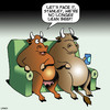 Cartoon: Lean beef (small) by toons tagged cows,lean,beef,red,meat,obesity,animals,overweight,lazy