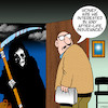 Cartoon: Life insurance (small) by toons tagged angel,of,death,life,insurance,grim,reaper,afterlife