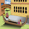 Cartoon: Lifejacket demonstration (small) by toons tagged gondola,safety,demonstration,life,jacket,venice