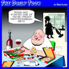 Cartoon: Mediterranean diet (small) by toons tagged fad,diets,pizza,red,wine,dieting