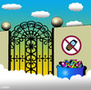 Cartoon: mobile free zone (small) by toons tagged mobile,phone,cell,heaven,angels,god,banned