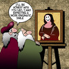 Cartoon: Mona Lisa smile (small) by toons tagged leonardo,da,vinci,mona,lisa,smiley,face,smiles,masterpiece,portrait,painter,genius,old,masters