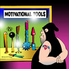 Cartoon: motivational tools (small) by toons tagged motivational,tools,torture,dungeon,pain,whips,medievil,truth,serum