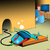 Cartoon: Mousetrap (small) by toons tagged computer,mouse,mousetrap,cats,trap,mice