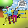 Cartoon: musical (small) by toons tagged golf,sport,trombone,horn,musical,instrument
