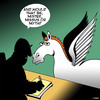 Cartoon: Myth (small) by toons tagged pegasus,flying,horse,myths,animals,horses,application,form