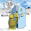Cartoon: New to the area (small) by toons tagged eskimo,fridge,tribes,arctic,freezing