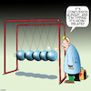 Cartoon: Newtons cradle (small) by toons tagged concussion,newtons,cradle,work,related,injury,compensation,head