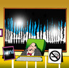 Cartoon: no smoking (small) by toons tagged smoking,environment,climate,change,global,warming,ozone,co2,oxygen,pollution,smoke,stacks