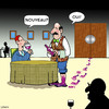 Cartoon: Nouveau wine (small) by toons tagged wine,waiter,connoisseur,grapes,vino