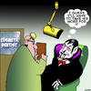 Cartoon: On reflection (small) by toons tagged dracula,dentistry,cosmetic,surgery,mirrors,dentist