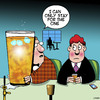 Cartoon: One for the road (small) by toons tagged alcohol,quick,drink,alcoholic,over,sized,drinks
