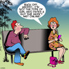 Cartoon: Online dates (small) by toons tagged pick,up,lines,social,media,networking
