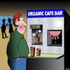 Cartoon: Organic coffee (small) by toons tagged cows,udder,organic,foods,coffee,machine,cafe,kaffe