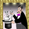 Cartoon: out of the hat (small) by toons tagged magician,magic,tricks,rabbits,intercourse,sex