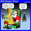 Cartoon: Perfect man (small) by toons tagged santa,puppies,perfect,man,christmas,wish,list,santas,knee