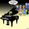 Cartoon: Piano Tuna (small) by toons tagged piano,music,fish,tuner