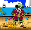 Cartoon: pirates beaver (small) by toons tagged pirates,animals,beaver,galleon,pirate,ship,wooden,leg