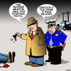 Cartoon: Race related (small) by toons tagged starting,pistol,murder,scene,police,race,relations,detectives,guns,law,and,order