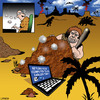 Cartoon: Return to an earlier time (small) by toons tagged laptops,computers,computer,crash,system,restore,prehistoric,dinosaurs