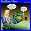 Cartoon: Saint Patricks day (small) by toons tagged fifty,shades,leprechauns,st,patrick,kinky,greeting,cards