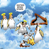 Cartoon: Sixties rock star (small) by toons tagged rock,stars,the,sixties,angels,harps,smashing,giutars