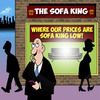 Cartoon: Sofa King (small) by toons tagged furniture,sales,sofa,lounge,arm,chair,king,household