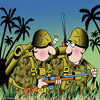 Cartoon: Soldier snail (small) by toons tagged military,snails,slugs,soldier,war,fighting,jungle,fighter