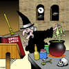 Cartoon: spell check (small) by toons tagged spell,check,witches,warlocks,magic,spelling,black,cooking,bats