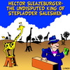 Cartoon: stepladder (small) by toons tagged salesman,sales,giraffe,animals,africa