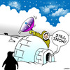 Cartoon: still snow (small) by toons tagged sattelite,dish,telecommunications,tv,television,eskimos,igloo,dvd,aerials,arctic