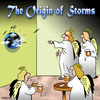 Cartoon: storms (small) by toons tagged storms,weather,rain,angels,heaven,earth,lightning,meteorology