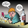 Cartoon: Tequila (small) by toons tagged tequila,ex,girlfriend,texting,drunk,social,media