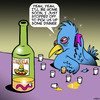 Cartoon: Tequila worm (small) by toons tagged tequila,worms,alcohol,worm,spirits,dinner,birds,animals