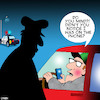 Cartoon: Texting while driving (small) by toons tagged driving,and,tesxting,smart,phones,highway,patrol,speeding,texting,rudeness,police,arrest