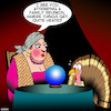 Cartoon: Thanksgiving (small) by toons tagged turkey,thanksgiving,fortune,teller,predicting,the,future,meals