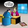 Cartoon: the abacus (small) by toons tagged abacus,computer,calculator,counting,business,money,tech,support