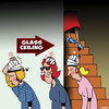 Cartoon: The Glass ceiling (small) by toons tagged women,in,the,workforce,glass,ceiling,men,only,business,promotion,opportunities,for