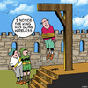 Cartoon: The King has gone wireless (small) by toons tagged wi,fi,hanging,execution,medievil,wireless,transmission