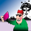 Cartoon: The last selfie (small) by toons tagged atomic,weapons,selfie,narcissism,nuclear,attack,armageddon,threats,society,smart,phones