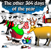 Cartoon: The other days (small) by toons tagged christmas,santa,north,pole,reindeers,laundry,washing,dry,cleaning