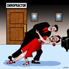 Cartoon: The Tango (small) by toons tagged chiropractor,chiropractic,bad,back,pain,the,tango