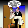 Cartoon: Tinder (small) by toons tagged bride,and,groom,tinder,just,married,infidelity