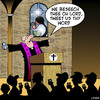Cartoon: Tweet us thy word (small) by toons tagged tweeting,social,media,tweets,networking,facebook,blogging,god,church