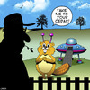 Cartoon: UFO Beaver cartoon (small) by toons tagged ufo,beaver,rocket,ship,timber,wood,types,take,me,to,your,leader