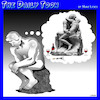 Cartoon: Valentines day (small) by toons tagged the,thinker,valentines,day,erotic,thoughts,sculpture,rodin