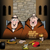 Cartoon: Vow of silence (small) by toons tagged monks,vow,of,silence,trappist