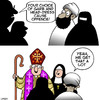 Cartoon: We get that a lot (small) by toons tagged burqa,burka,muslim,nuns,bishop,religious,headdress