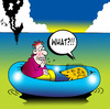 Cartoon: what (small) by toons tagged shipwrecked,hedgehog,anteater,raft,marooned,ships,sharp,spear,ocean,sea,echidna